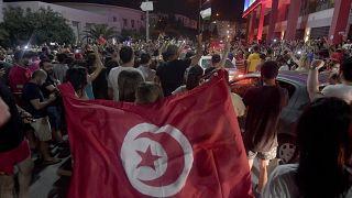 Demonstration in Tunis