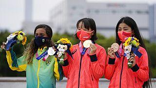 Il podio più giovane della storia delle Olimpiadi.