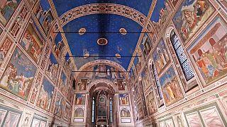 Frescos de la capilla de los Scrovegni pintados por Giotto en 855 días entre 1302 y 1305 Padua, Italia