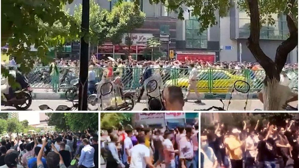 تظاهرات در تهران امروز