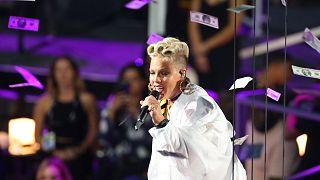 Amerikalı şarkıcı Pink