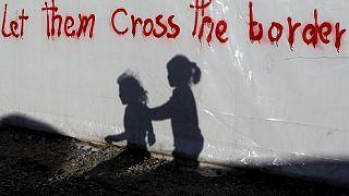 اردوگاه پناهجویان در نزدیکی مرز یونان