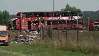 accident scene on Croatian highway