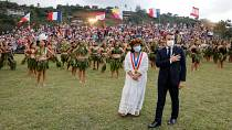 Macron is on his first official trip to French Polynesia