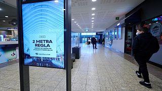 مركز تسوق في  ريكيافيك عاصمة إيسلندا، 11 فبراير 2021