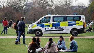 خودروی پلیس در هایدپارک لندن