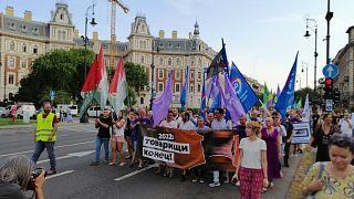 Tüntetés a Pegasus-botrány miatt