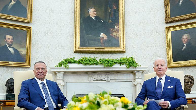 Biden ve Kazımi, ABD'nin Irak'taki savaş misyonunu sona erdiren anlaşmayı imzaladı