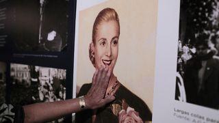 Fotografía de Eva Perón en la Casa Museo Eva Perón en Los Toldos, Argentina