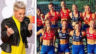 واکنش پینک به جریمه تیم زنان هندبال نروژ