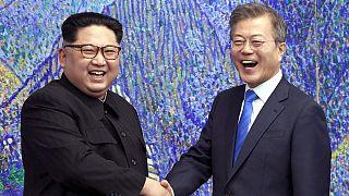 رهبران دو کشور کره جنوبی و شمالی