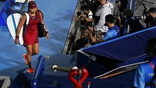 Tennis in Tokio: Naomi Osaka verlässt den Platz nach der Niederlage im Achtefinale