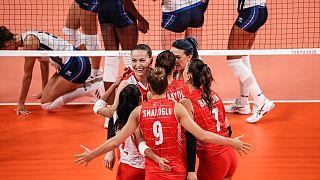 A Milli Kadın Voleybol Takımı, 2020 Tokyo Olimpiyat Oyunları'nda B Grubu'ndaki ikinci maçında İtalya ile Ariake Arena'da karşılaştı.
