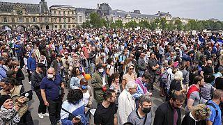 Impfgegner demonstrieren in Paris, Samstag, 17.07.2021
