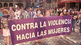 Manifestación contra la violencia sexual contra las mujeres en Gijón, Asturias