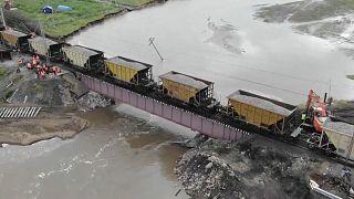 Ремонт моста в Забайкалье, 26 июля