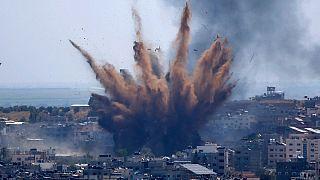 حمله هوایی اسرائیل به ساختمانی در غزه