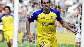 Una leggenda del Chievo: Sergio Pellissier. Qui nel giorno della celebre tripletta alla Juventus.