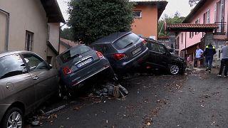Lluvias torrenciales en el norte de Italia provocan importantes corrimientos de tierra