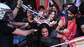 20 Temmuz 2021'de İstanbul'daki protesto gösterilerinde yaşanan polis şiddeti