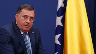 Bosnian Serb member of the tripartite Presidency of Bosnia Milorad Dodik