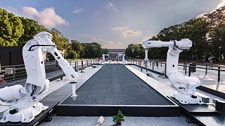 The Constant Gardeners art installation in Tokyo uses tech to convert Olympic events into a traditional Japanese zen garden