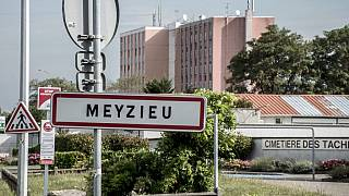 The infant was found alive in Meyzieu, east of the Lyon.
