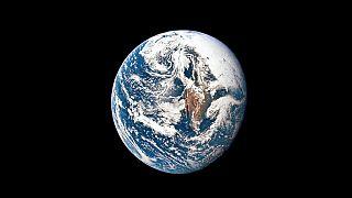 Foto von der Erde am 18.05.1969, aufgenommen von der Apollo 10-Raumsonde