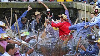 رقابت روز ماهیگیران در یکی از شهرهای ایالت بایرن آأمان