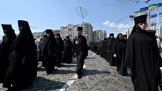 55 binden fazla Ortodoks, Kiev sokaklarında yürüyüş düzenledi