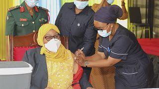 Samia Suluhu Hassan kicks off Tanzania's Covid vaccination with first jab