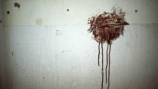على جدار مستشفى في حلب (أرشيف)