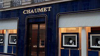 The Chaumet jewellry boutique is loctaed near Paris' famous Champs-Élysées street.