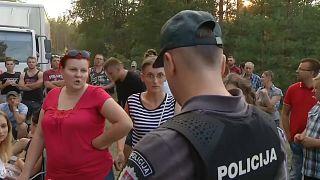 Anwohnerproteste in Litauen an der Grenze zu Belarus