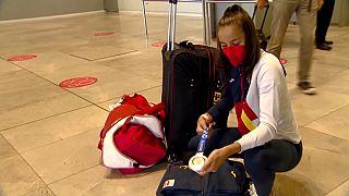 Adriana Cerezo con su medalla del plata de Tokio