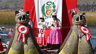 Marcha indígena para pedir a Pedro Castillo que no se olvide de los pueblos originarios