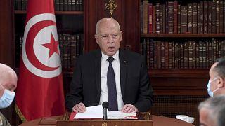 الرئيس التونسي قيس سعيد - الأحد 25 يوليو / تموز 2021