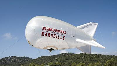 The captive balloon can remain afloat for up to ten days at a time