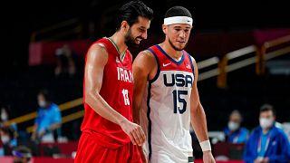 مسابقه بسکتبال ایران و آمریکا