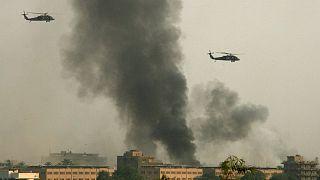 عکس تزئیتی از حملات موشکی در بغداد