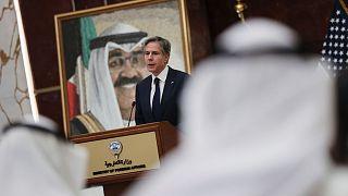 کنفرانس خبری آنتونی بلینکن، وزیر خارجه آمریکا در کویت