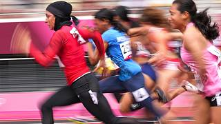 فرزانه فصیحی در مسابقات دو ۱۰۰ متر المپیک