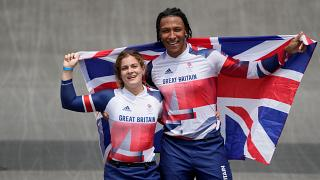 Bethany Shriever of Britain won gold in the women's BMX race while Kye Whyte won silver in the men's