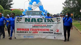 Демонстрация по случаю Всемирного дня борьбы с торговлей людьми, Нигерия