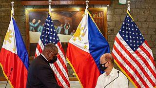 وزرای دفاع آمریکا و فیلیپین