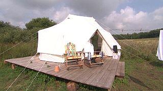 Glamping auf dem dänischen Campingplatz in Naerum