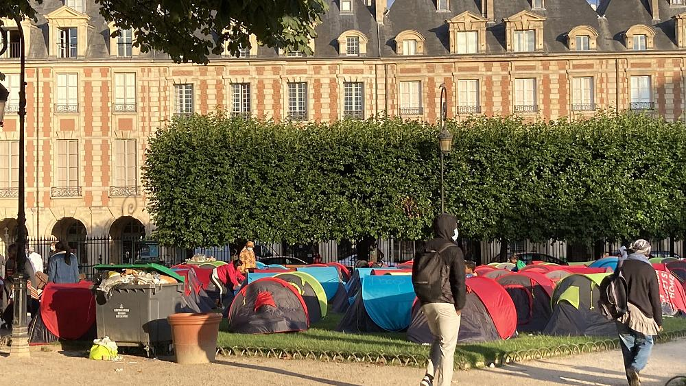 Paris moves hundreds of homeless people from central square