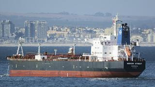 The Liberian-flagged oil tanker Mercer Street, pictured off Cape Town in January 2016.