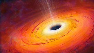 عکس تزئینی از یک سیاهچاله