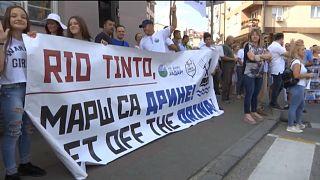 Protesta en una ciudad serbia contra el proyecto Jadar